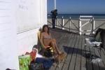 Tintarella d'inverno, palermitani in spiaggia a Mondello anche a gennaio