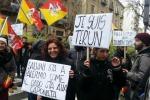 Salvini a Palermo: le foto della protesta davanti all'Hotel Delle Palme