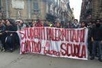 Studenti in corteo a Palermo contro la riforma del Governo - Foto
