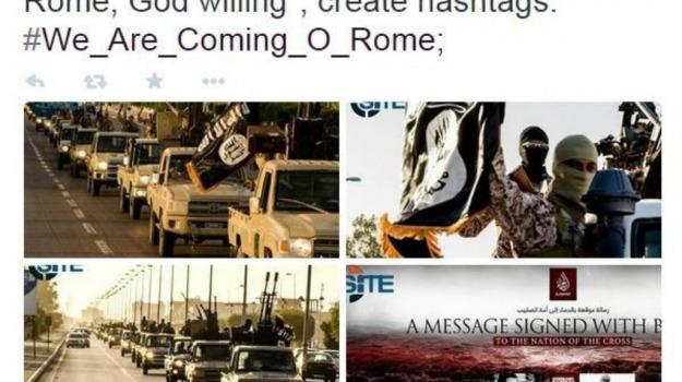Isis, libia, minacce, roma, terrorismo, twitter, Sicilia, Mondo