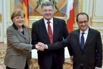 """Ucraina, Francia e Germania: """"Se l'accordo salta, nuove sanzioni"""""""