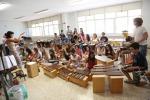 Spettacolo di percussioni all'Università di Palermo