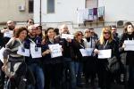 """Palermo, protesta degli operatori Almaviva alla """"Leopolda"""""""