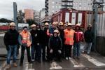 Anello ferroviario, protestano i disoccupati edili
