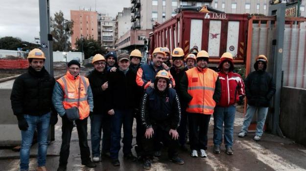 anello ferroviario, disoccupati, edilizia, protesta, Palermo, Economia