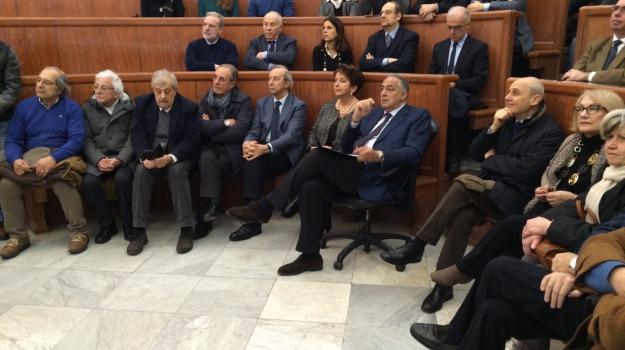 discorso, maxischermo, presidente, Quirinale, Roberto Lagalla, Sergio Mattarella, Palermo, Cronaca