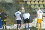 Rinviata la gara Modena-Catania: le immagini del campo innevato - Video