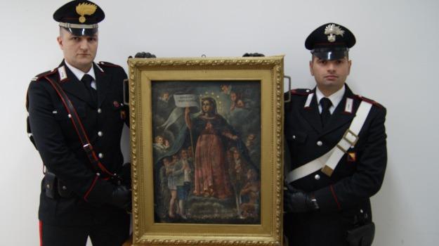 dipinto rubato, madonna dei peccatori, ritrovato borgetto, Palermo, Cultura