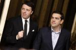 """Renzi incontra Tsipras: """"Dalla Grecia messaggio di speranza"""""""
