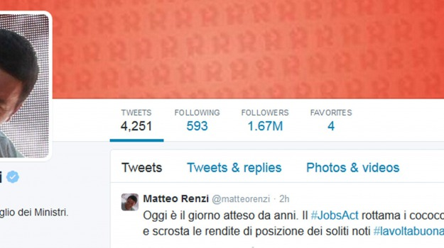 governo, presidente consiglio, twitter, Matteo Renzi, Sicilia, Politica
