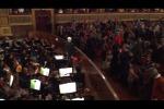 L'omaggio del Teatro Massimo a Mattarella, in sala suona l'inno - Video