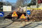 Cede parte della carreggiata, chiusa una strada a Caltanissetta