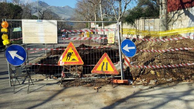frana, lavori, Piazza Armerina, strada provinciale, Enna, Cronaca