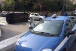 Auto si cappotta in via Libertà a Palermo: ci sono feriti - Video