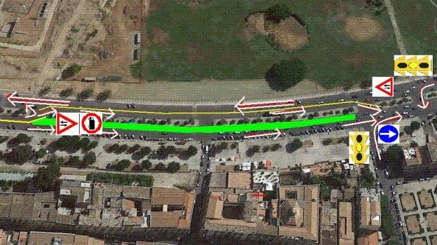 doppio senso di marcia, Foro Italico, lavori, Palermo, Cronaca