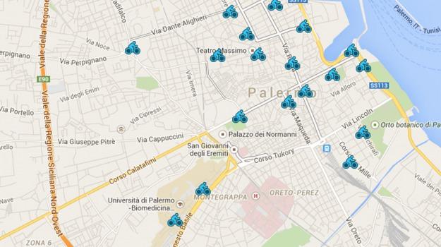 bike sharing, mobilità, TRAFFICO, Palermo, Cronaca