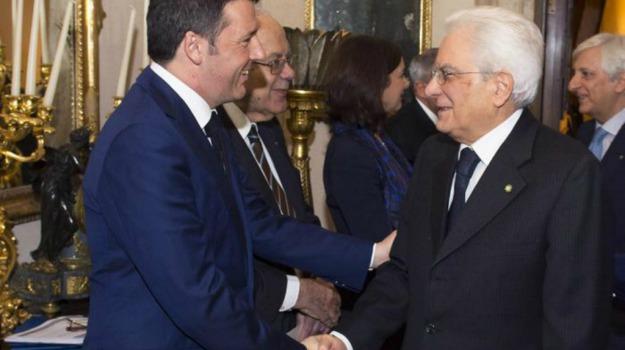 DIMISSIONI, incontro, ministro, premier, presidente della Repubblica, Quirinale, roma, Matteo Renzi, Sergio Mattarella, Sicilia, Politica