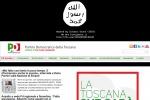 Isis, attacco hacker sul sito PD toscano