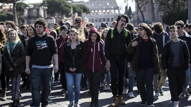 buona scuola, corteo, scuola, studenti, Matteo Renzi, Palermo, Cronaca
