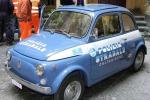 Fiat 500 della Polizia con scene della Passione esposta a Catania