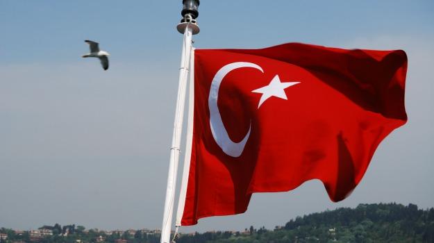 Ankara, attivista, bandiera, Turchia, Sicilia, Mondo