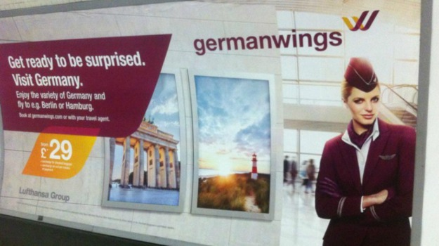 Germanwings, londra, pubblicità, slogan, Sicilia, Mondo