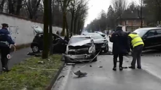 auto pirata, incidente, Monza, Sicilia, Cronaca