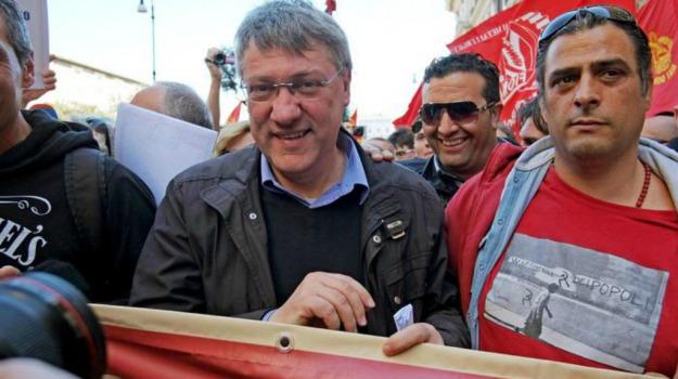 fiom, manifestazione, premier, Maurizio Landini, Sicilia, Politica