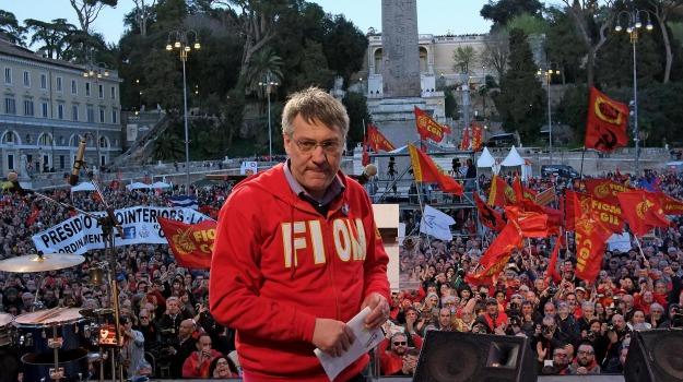 associazioni, coalizione sociale, movimento, sindacati, Maurizio Landini, Sicilia, Politica