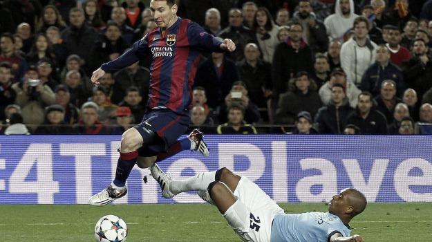 barcellona-manchester city, champions league, ottavi di finale, Lionel Messi, Sicilia, Sport