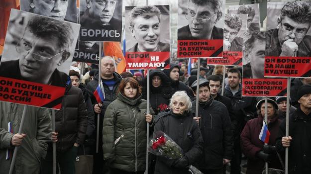 manifestazione, Boris Nemtsov, Vladimir Putin, Sicilia, Mondo