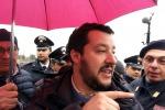 """Salvini: """"Sono pronto a sfidare Renzi, non mi tiro indietro"""""""