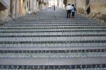 Piazza Armerina, ancora dissesto: si apre una voragine nella storica scalinata