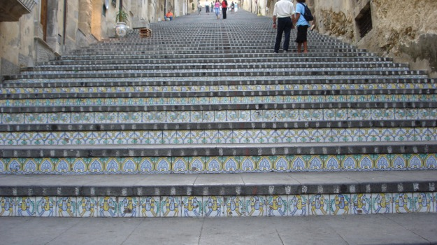 dissesto, Piazza Armerina, scalinata, Enna, Cronaca