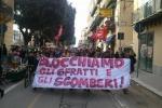 Palermo, corteo contro gli sfratti e gli sgomberi in città