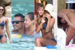 Il bikini svela un seducente tatuaggio: incidente hot per Jessica Alba in vacanza alle Antille - Foto