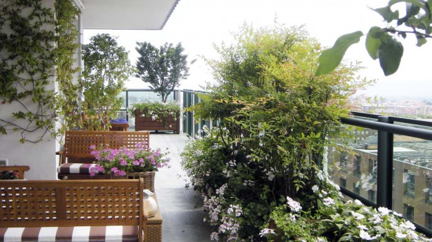 Come trasformare il terrazzo di casa in un giardino: i consigli ...