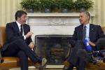 Renzi in visita ad Obama, incontro tra i due leader nella Sala Ovale della Casa Bianca