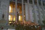 Sicurezza, fiaccolata dinanzi al Tribunale di Catania: circa 800 i partecipanti