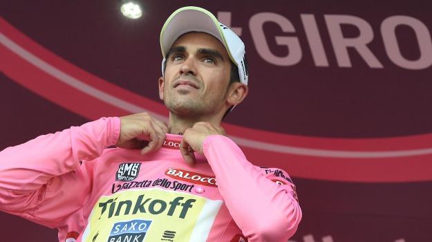 ciclismo, giro d'italia, maglia rosa, tappa, Alberto Contador, Sicilia, Sport
