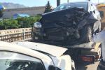 Incidente a Carini, auto in fiamme: paura sulla Statale 113 - Foto