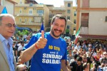 """Salvini: """"Dare una spallata al governo o Italia resta ferma"""""""