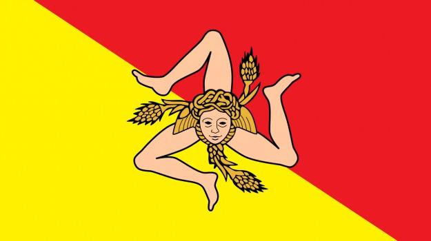 bandiera, Sicilia, trinacria, Sicilia, Società