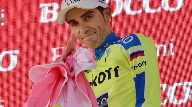 giro d'italia, maglia rosa, tappa, Alberto Contador, Sicilia, Sport