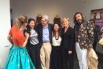 Vittorio Sgarbi alla presentazione di Piazzetta Sicilia all'Expo a Milano