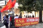 Fincantieri, sit-in dei lavoratori davanti al Municipio di Palermo