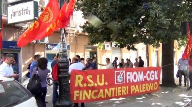 cantieri navali palermo, fincantieri, fiom, Palermo, Economia