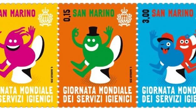 francobolli wc, servizi igienici, Sicilia, Società
