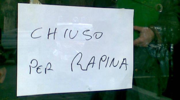 banca, rapina, ribera, Agrigento, Cronaca