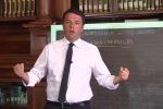 Il premier, Matteo Renzi
